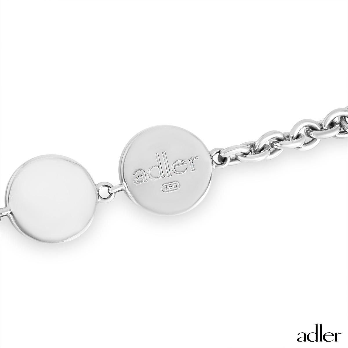 Adler White Gold Eye Bracelet